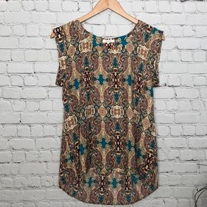 PLEIONE Top with Pleated Back Size Small